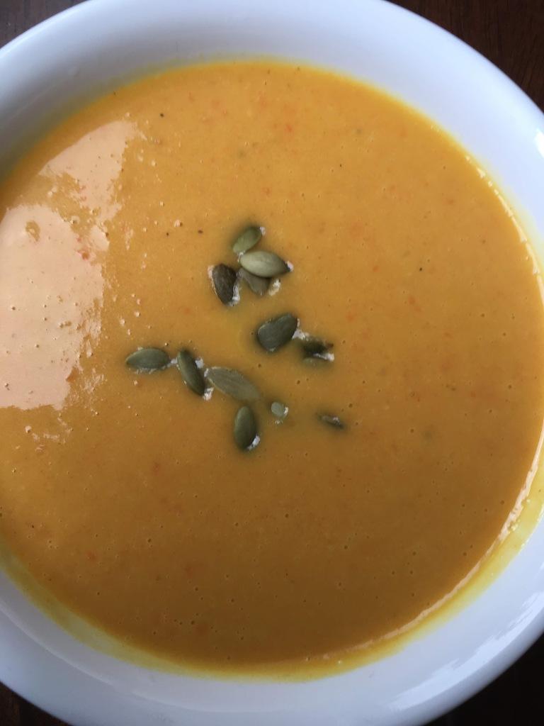creamy squash carrot coconut soup recipe