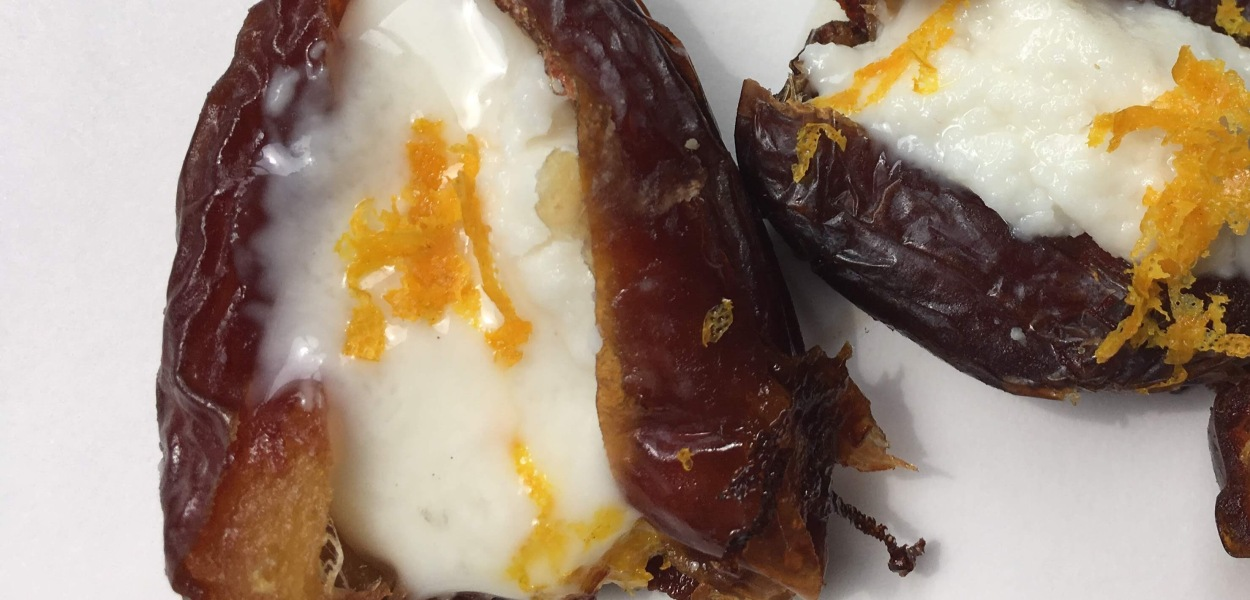Orange oil Coconut butter Stuffed dates