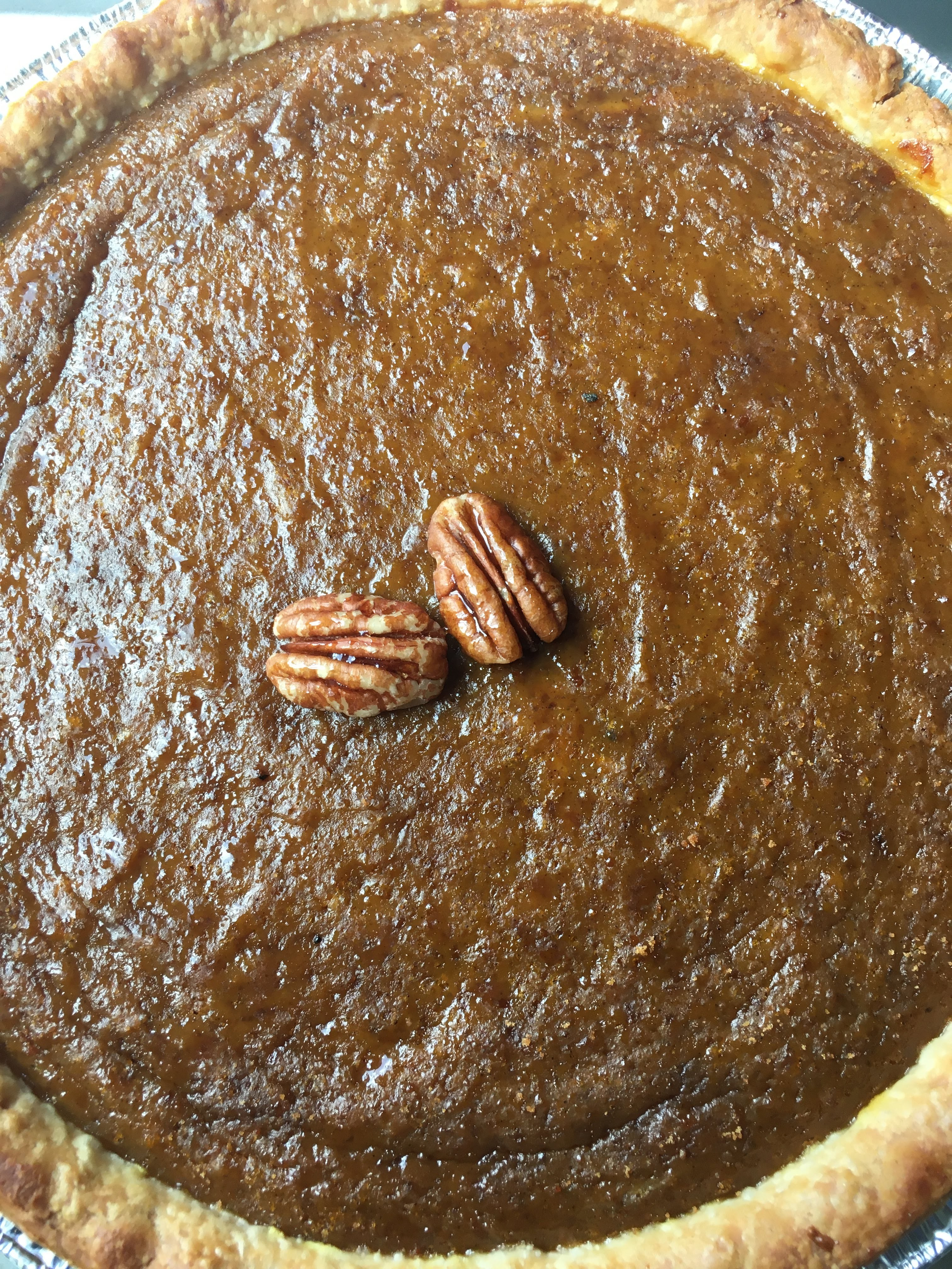 coconut sugar pumpkin pie