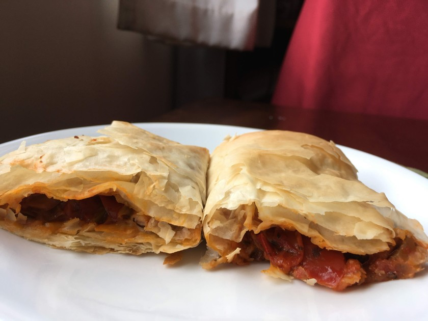 Phyllo traingles and phyllo wraps recipe