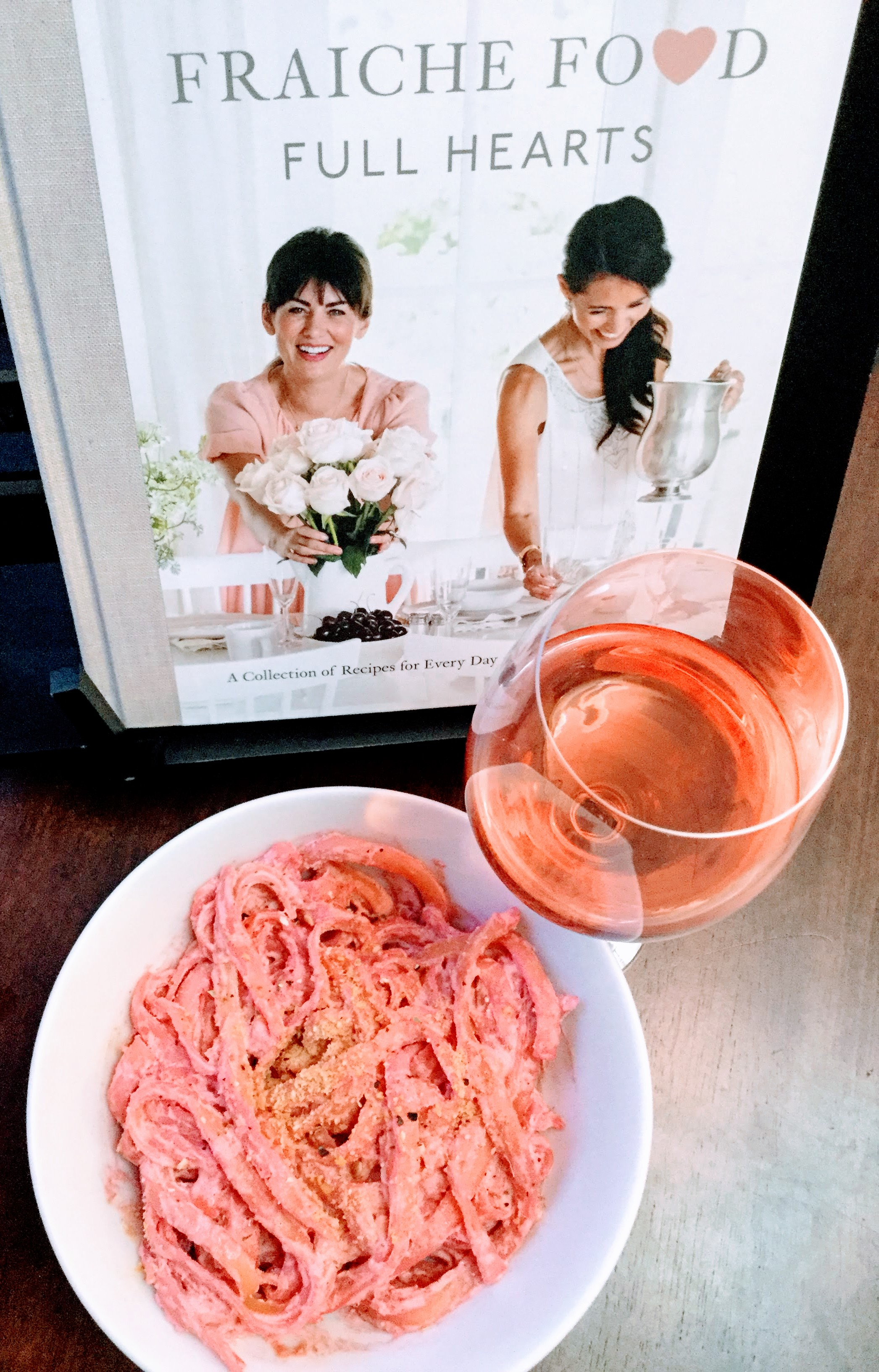 Jilian Harris pink pasta