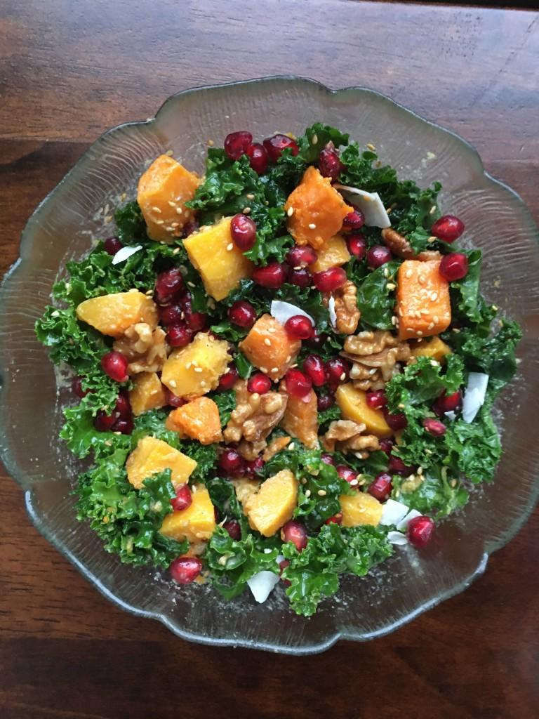 Christmas kale harvest salad