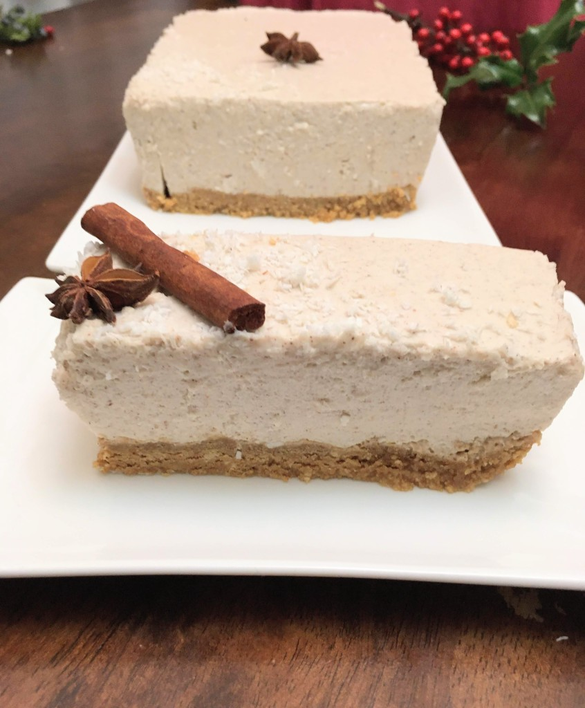 the best dairy free eggnog cheesecake and other delicious Christmas desserts