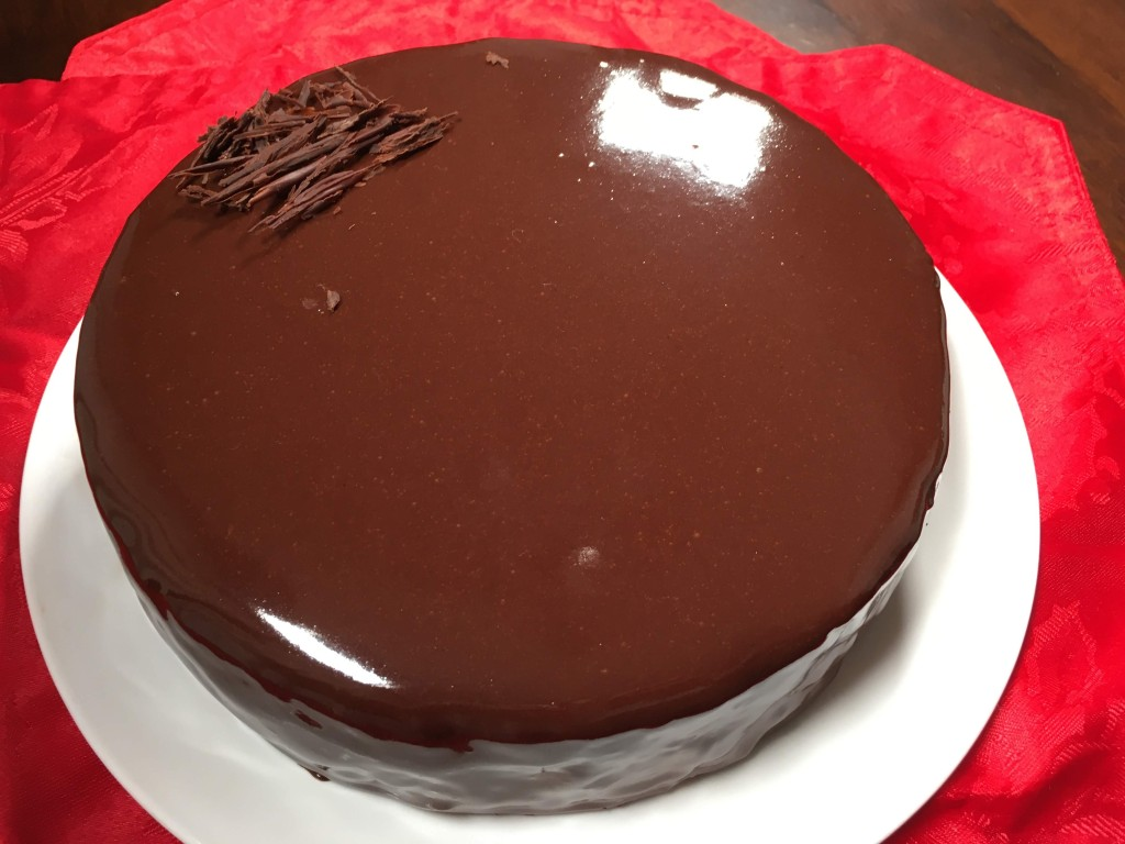 mirror glaze chocolate mousse cake dairy free