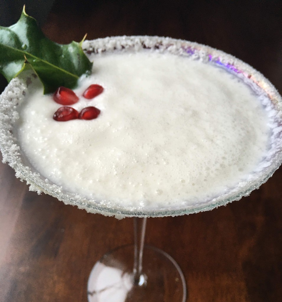 best white christmas margarita martini