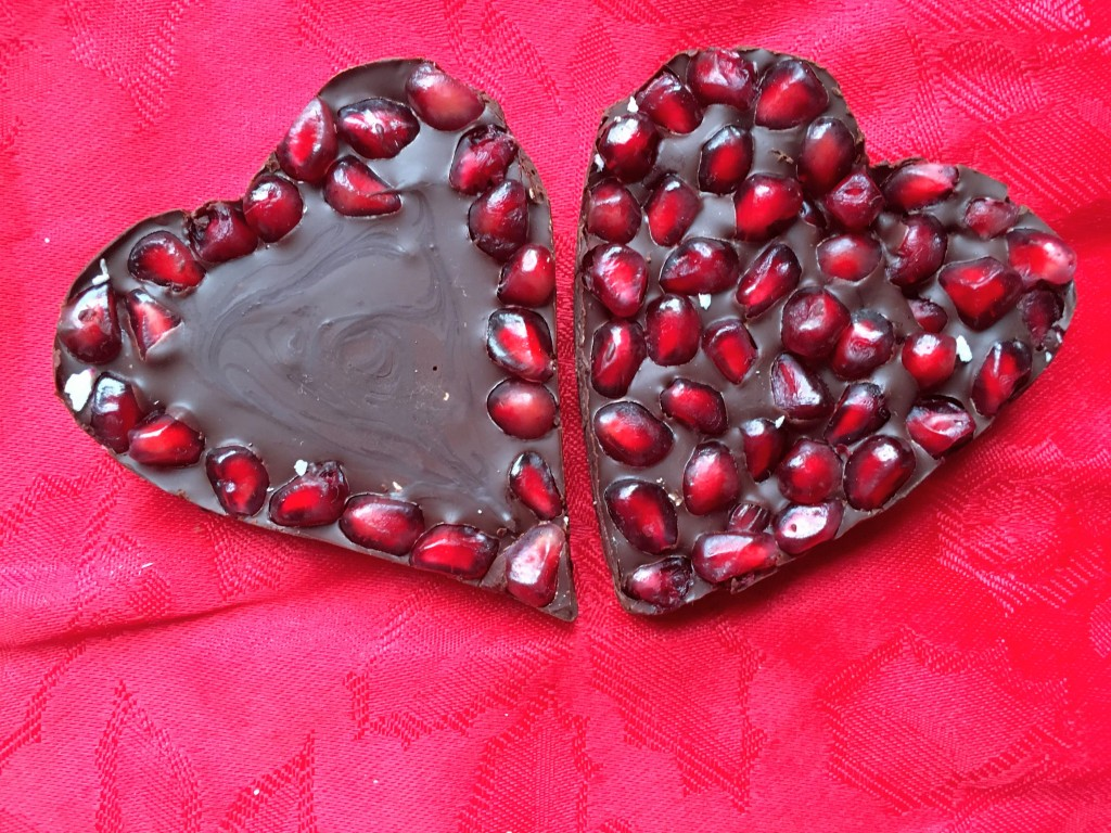 Be My Valentine Pomegranate Chocolate Bark Hearts Dairy